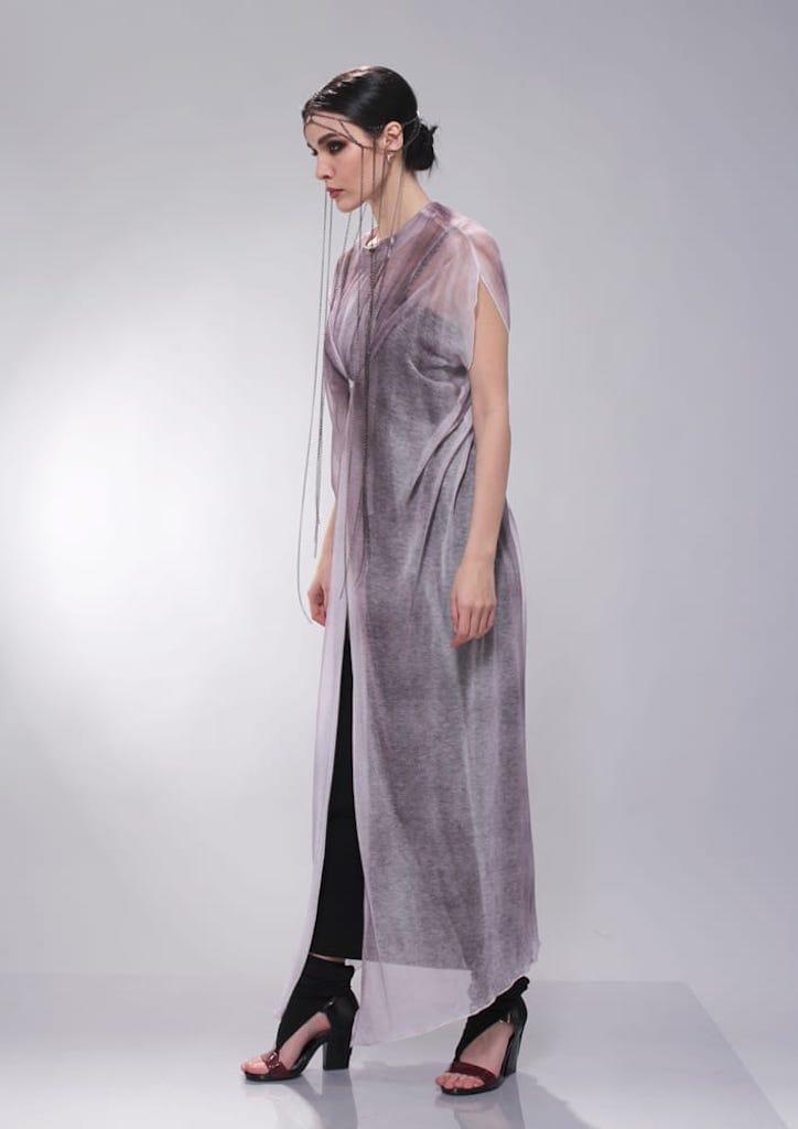 Накидка «Крылья» крашенная с платьем