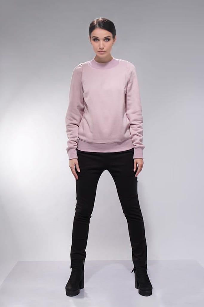 Свитшот футер розовый
