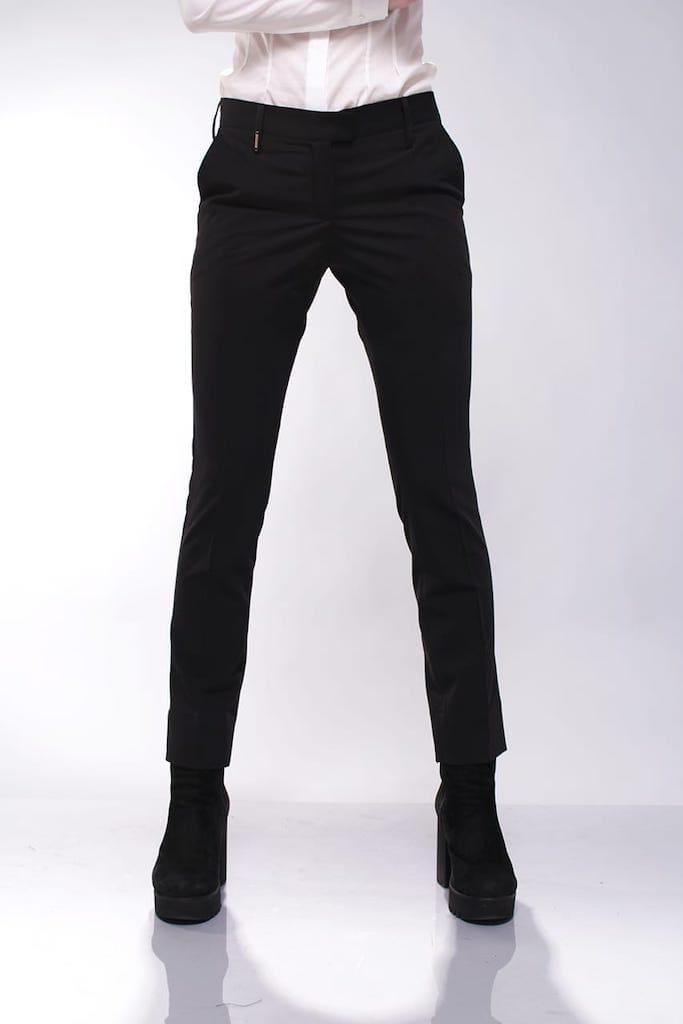 Классические брюки с низкой посадкой